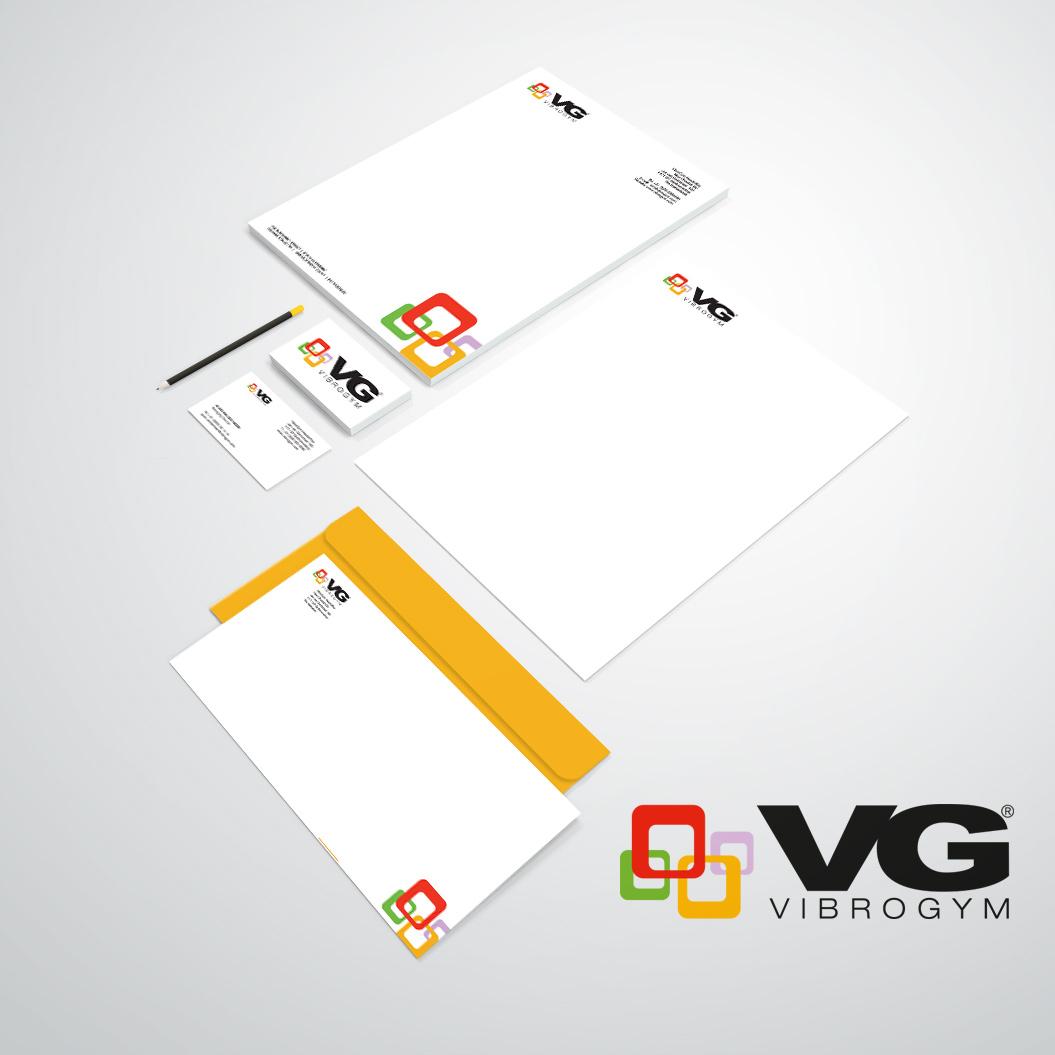 huisstijl gemaakt door Kat Design voor Vibrogym