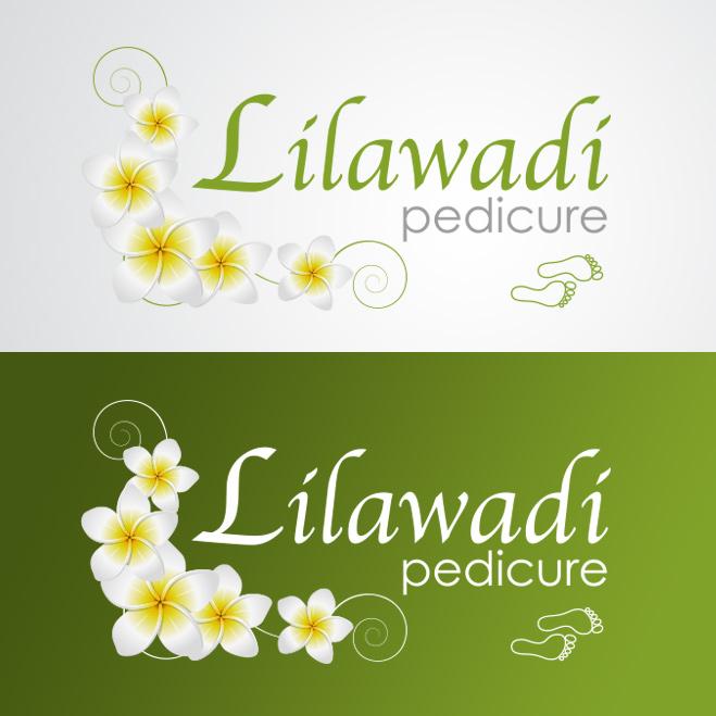 logo gemaakt door Kat Design voor pedicure Lilawadi
