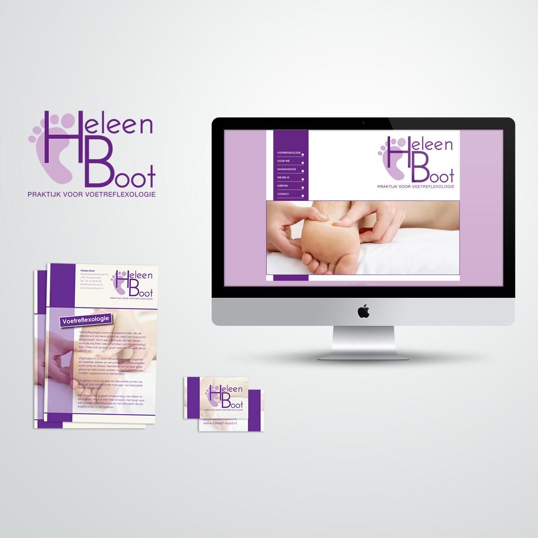 huisstijl gemaakt voor Kat Design voor pedicure Heleen Boot