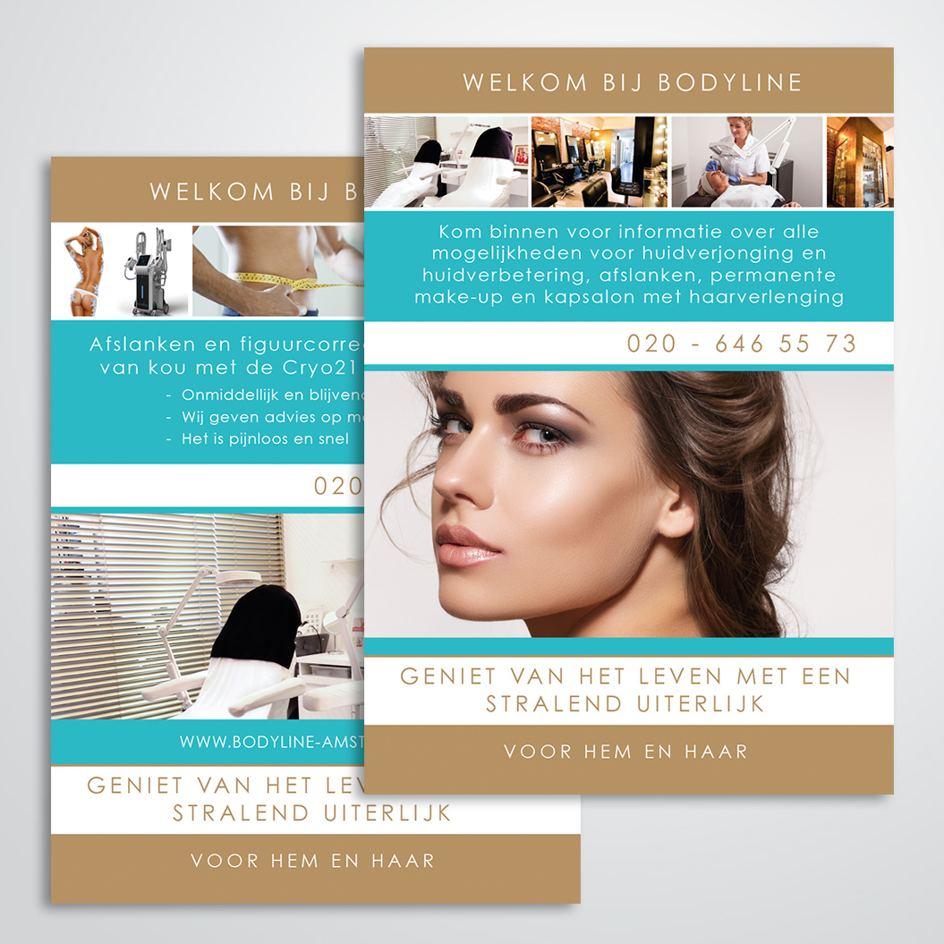 poster gemaakt door Kat Design voor Beautysalon Bodyline Beauty & More