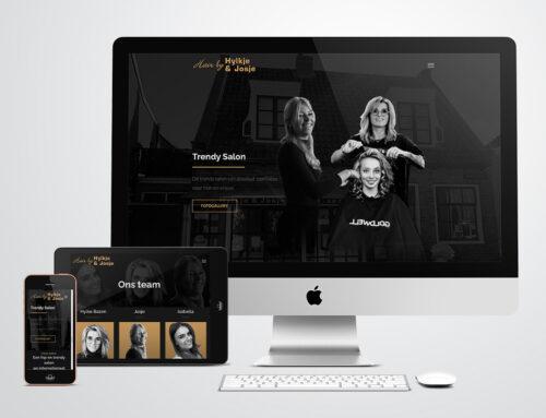Website voor Hair by Hylke