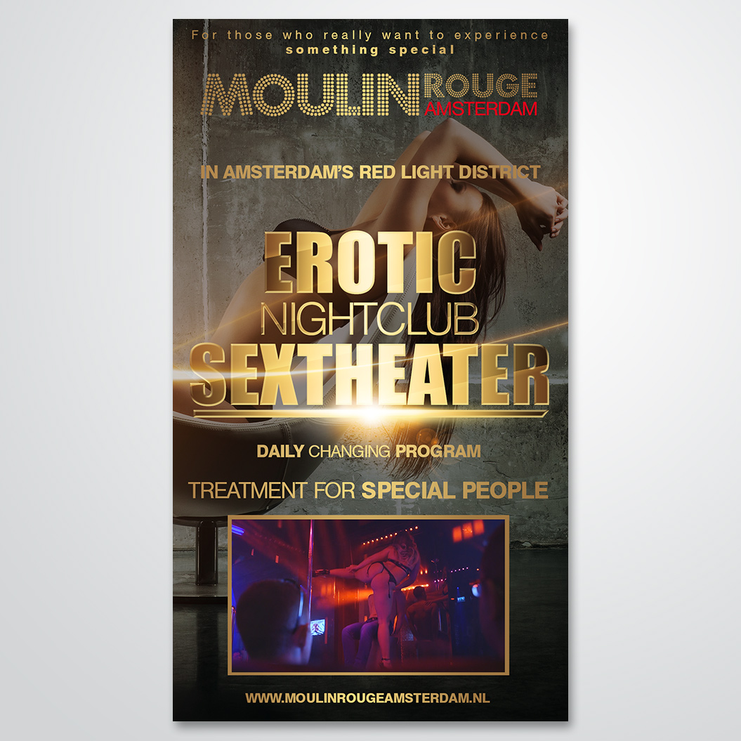 poster gemaakt door Kat Design voor Moulin Rouge Amsterdam