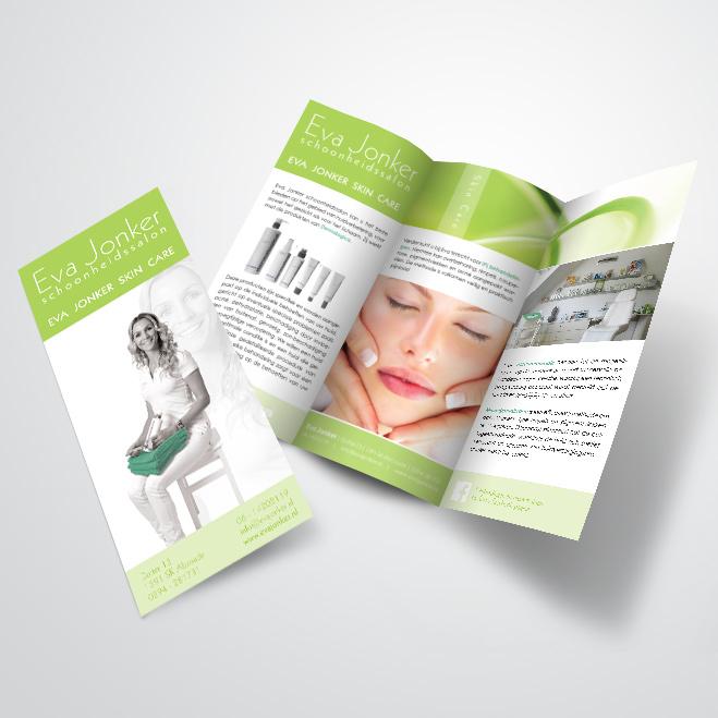 folder voor schoonheidsspecialist Eva Jonker
