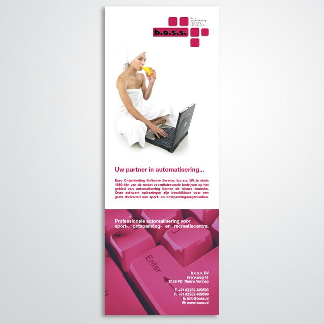 advertentie gemaakt door Kat Design voor B.O.S.S.