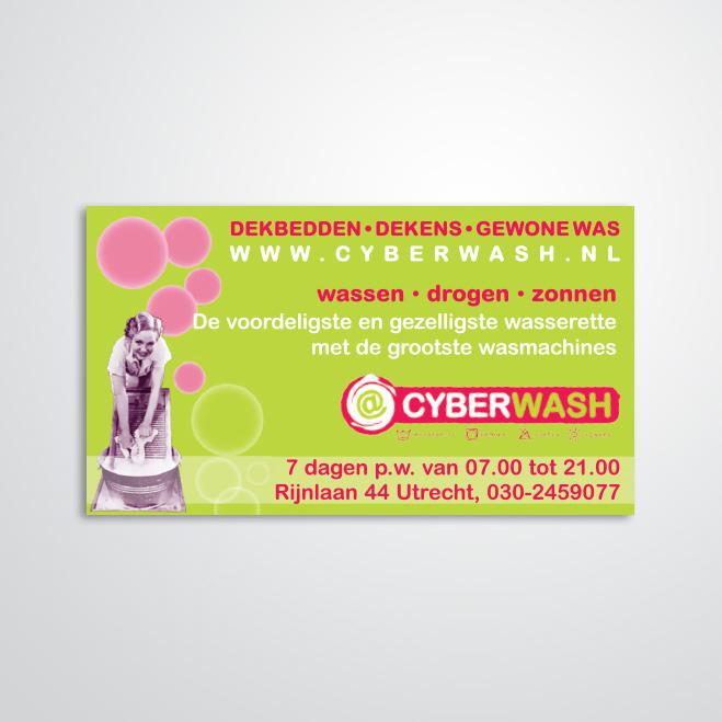 advertentie gemaakt door Kat Design voor Cyberwash
