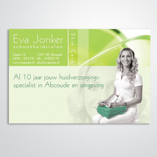 advertentie voor schoonheidsspecialist Eva Jonker