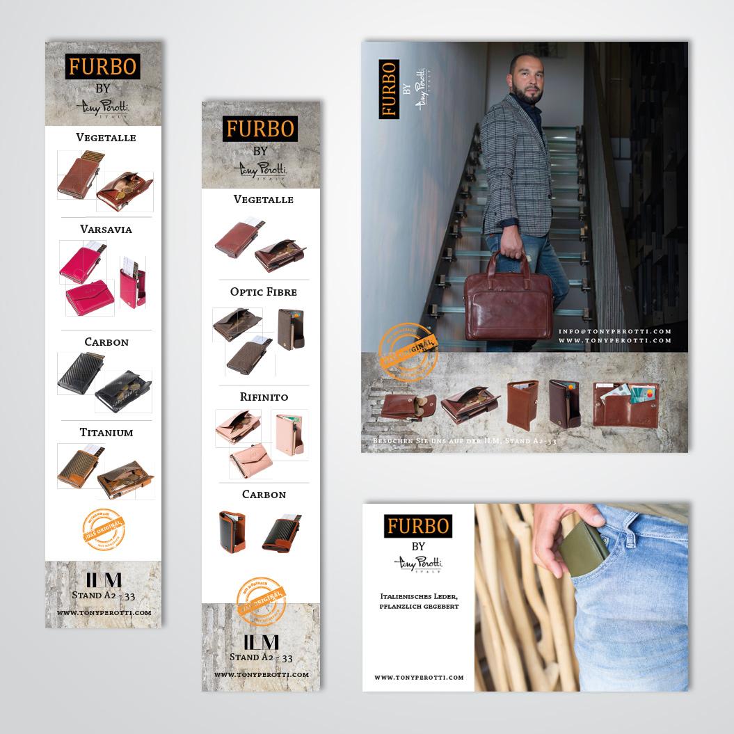 advertenties gemaakt door Kat Design voor Tony Perotti