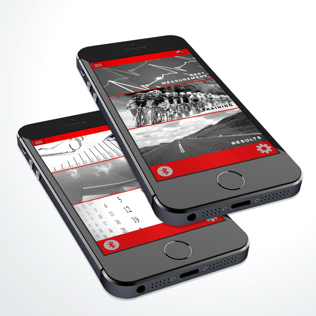 App ontwerp gemaakt voor Cardio Colour Control