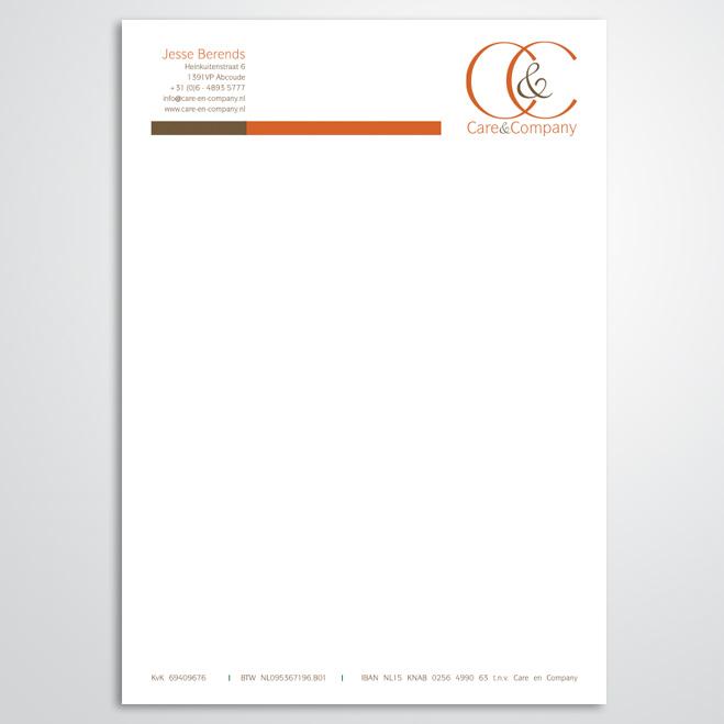 briefpapier gemaakt door Kat Design voor Care & Company
