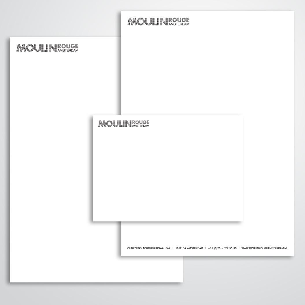 briefpapier gemaakt door Kat Design voor Moulin Rouge Amsterdam