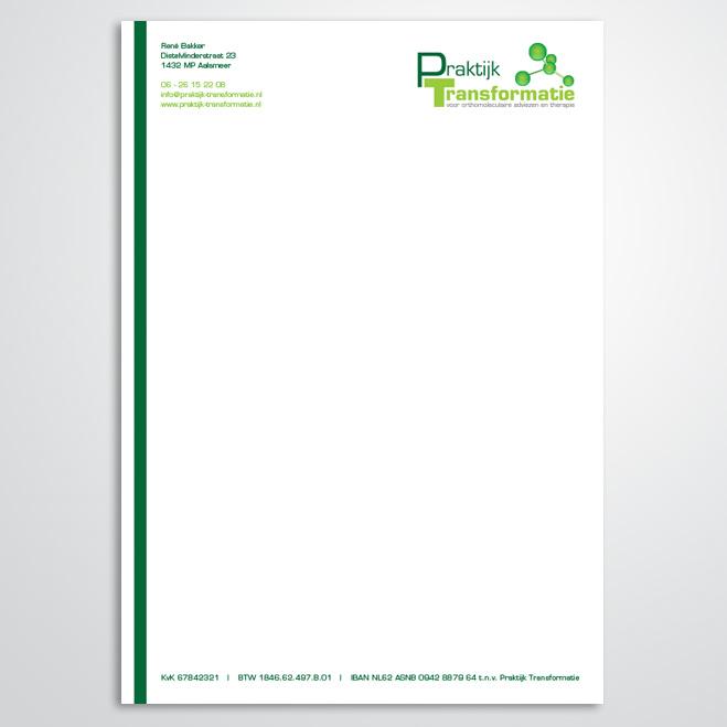 briefpapier door Kat Design voor praktijk transformatie