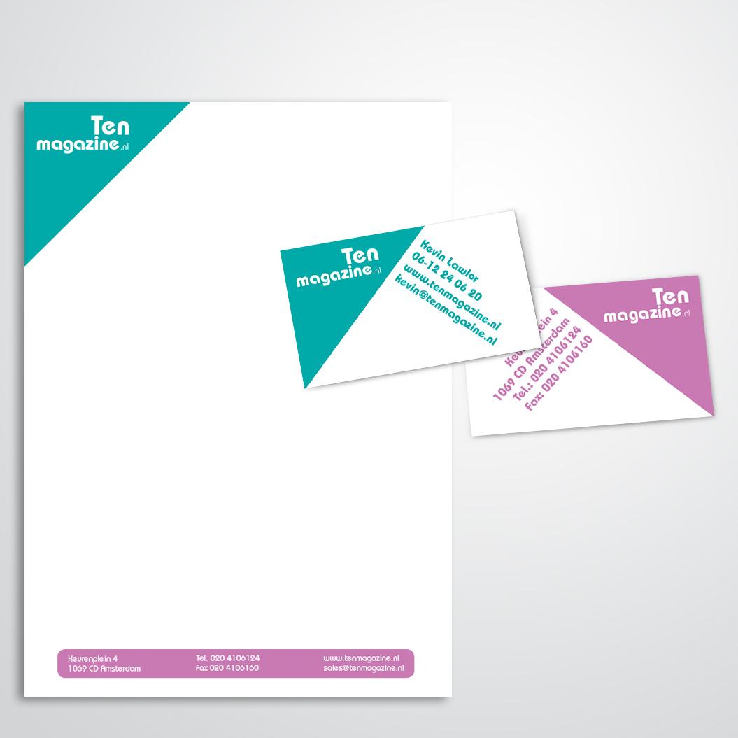 briefpapier gemaakt door Kat Design voor Ten Magazine