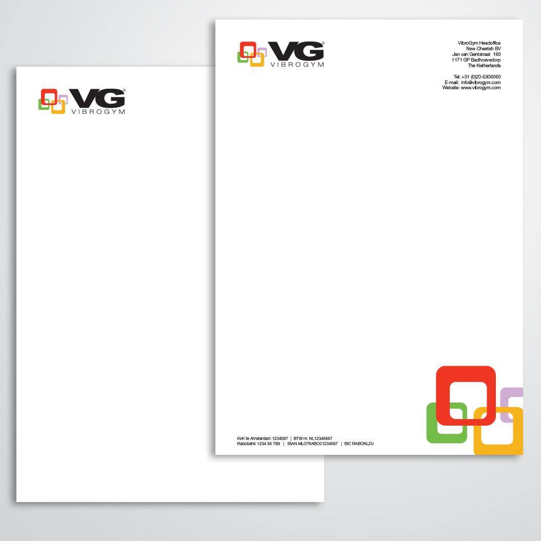 briefpapier gemaakt door Kat Design voor Vibrogym