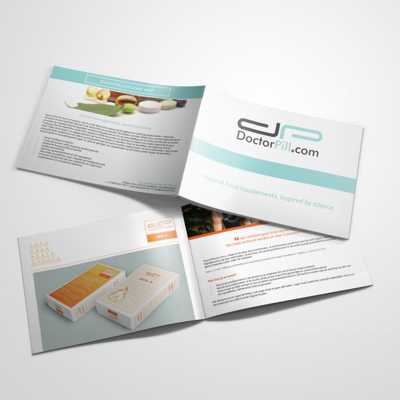 brochure gemaakt door Kat Design voor Doctor Pill