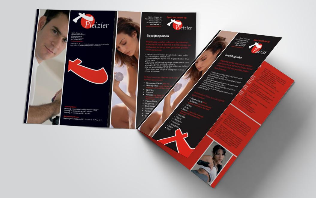 brochure voor sportschool Pleizier
