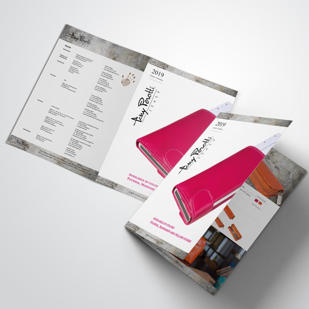 brochure gemaakt door Kat Design voor Tony Perotti