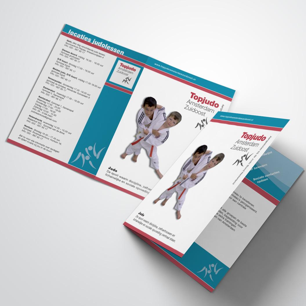 brochure gemaakt door Kat Design voor Topjudo