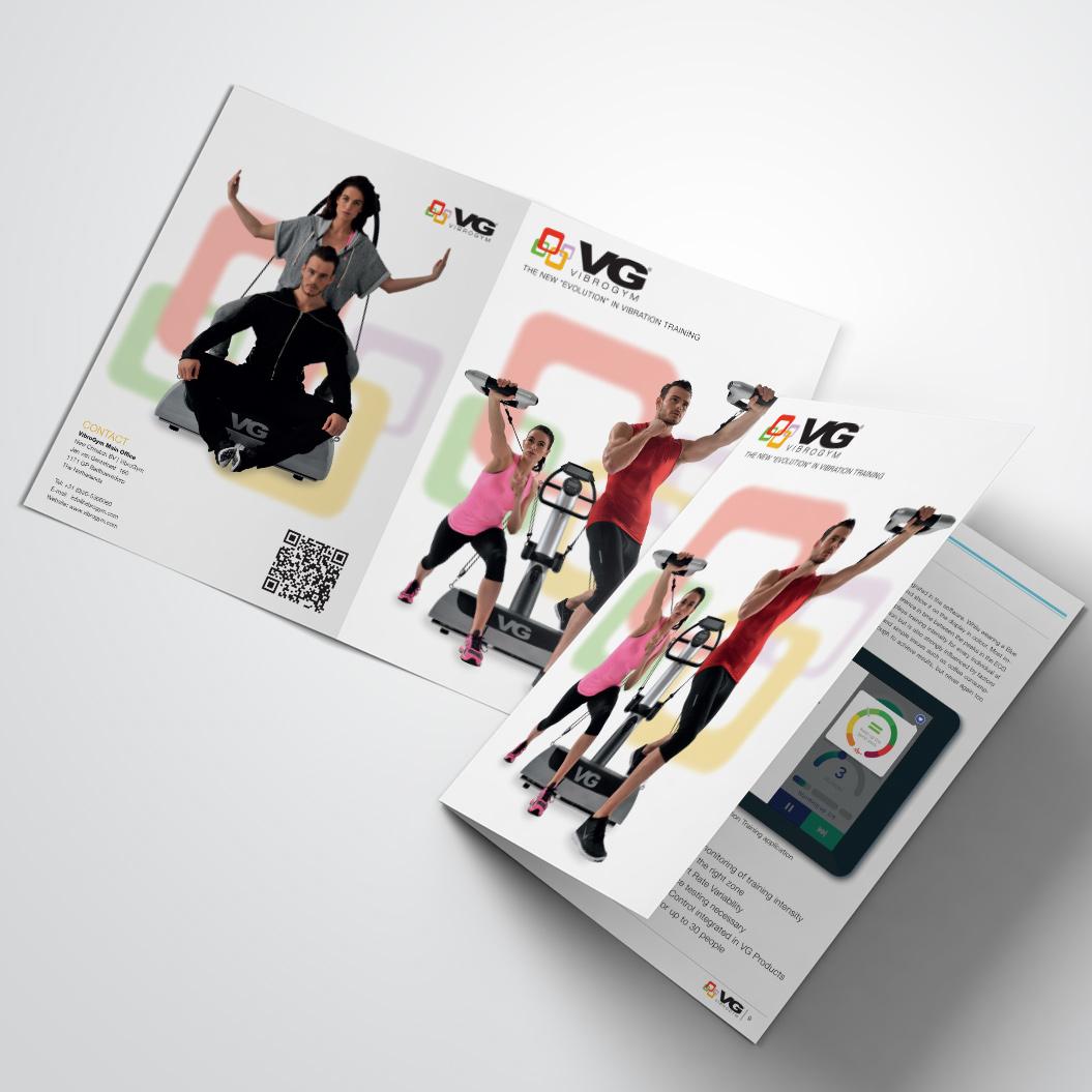 brochure gemaakt door Kat Design voor Vibrogym