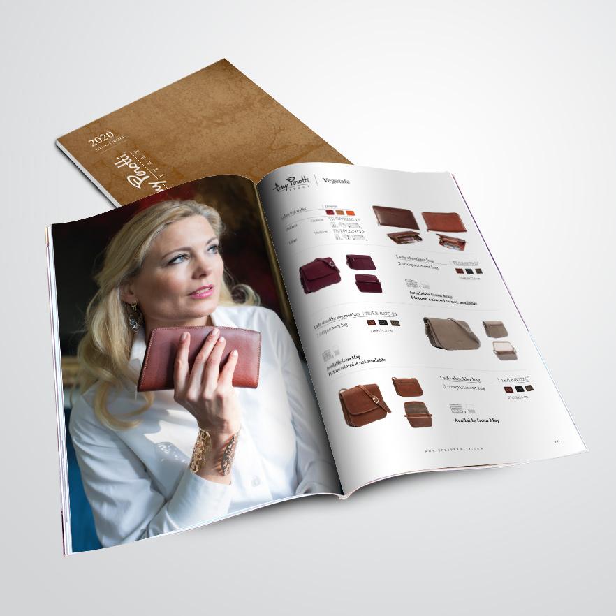 catalogus gemaakt door Kat Design voor Tony Perotti