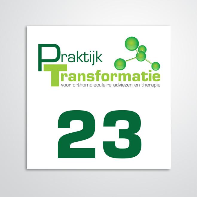 naambord gemaakt door Kat Design voor praktijk transformatie