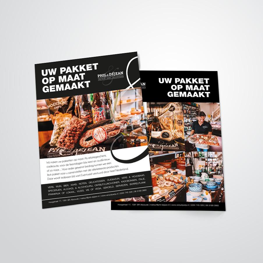 flyer voor Phil & Déjean gemaakt door Kat Design