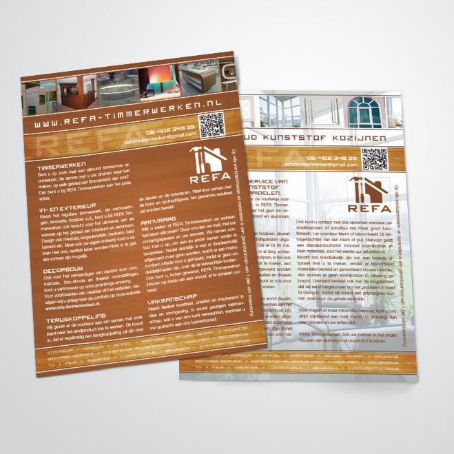 Flyer voor REFA Timmerwerken