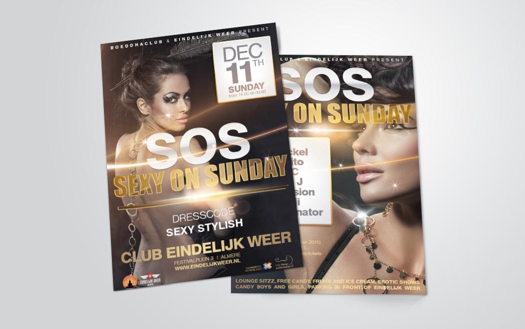 flyers gemaakt door Kat Design voor Boeddhaclub