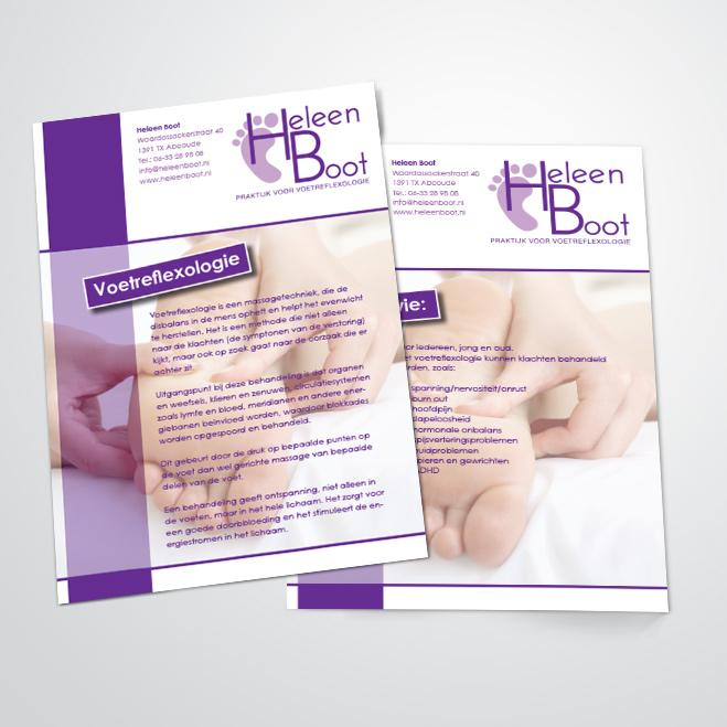 flyers gemaakt voor Kat Design voor pedicure Heleen Boot