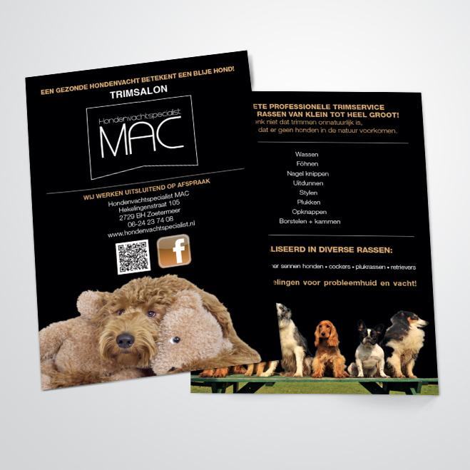 flyers voor MAC hondenvachtspecialist