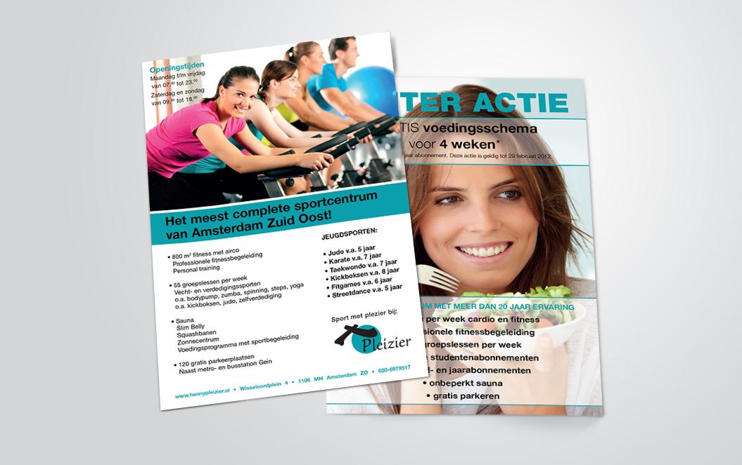 flyers voor sportschool Pleizier