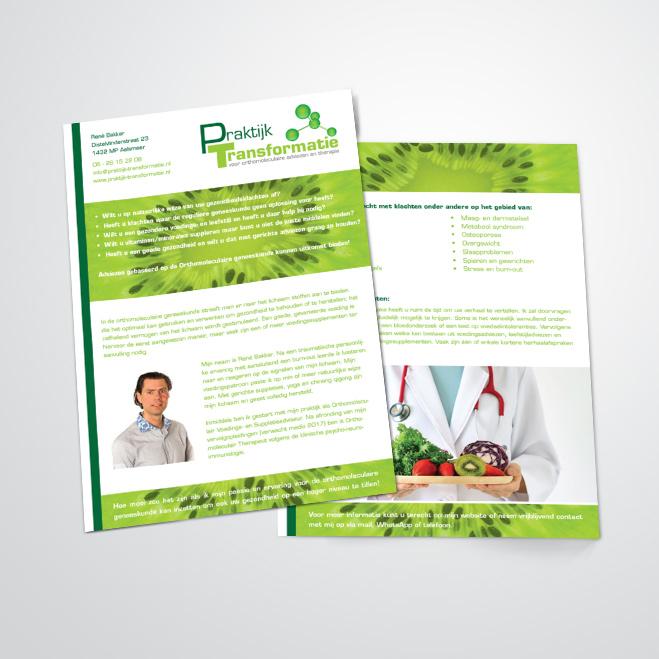 flyers gemaakt door Kat Design voor praktijk transformatie