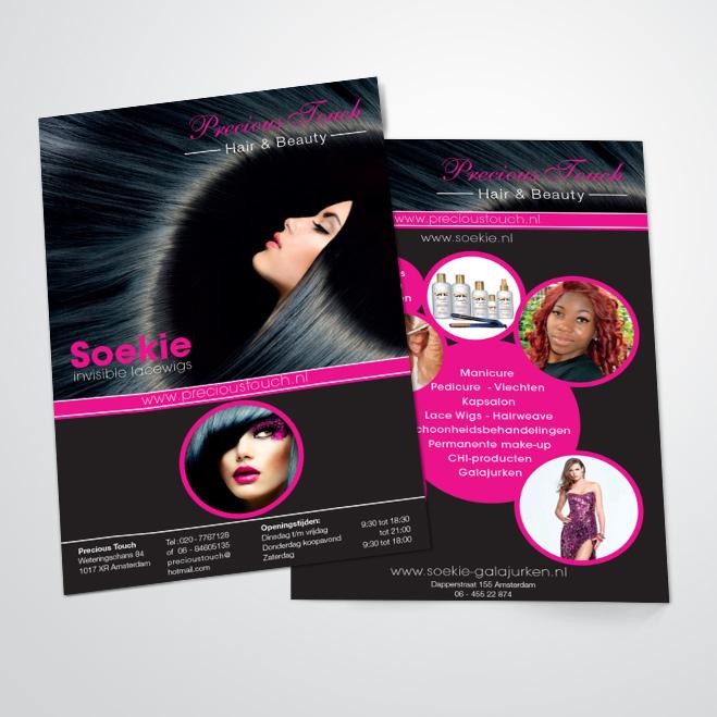 Flyer gemaakt door Kat Design voor Precious Touch