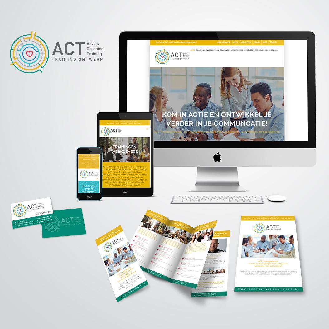 huisstijl gemaakt door Kat Design voor ACT Trainingontwerp