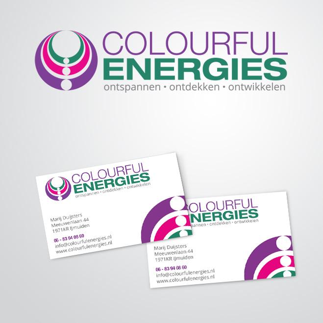 huisstijl gemaakt door Kat Design voor Colourful Energies