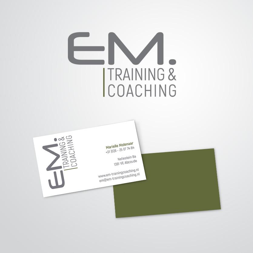 huisstijl gemaakt voor EM Training & Coaching