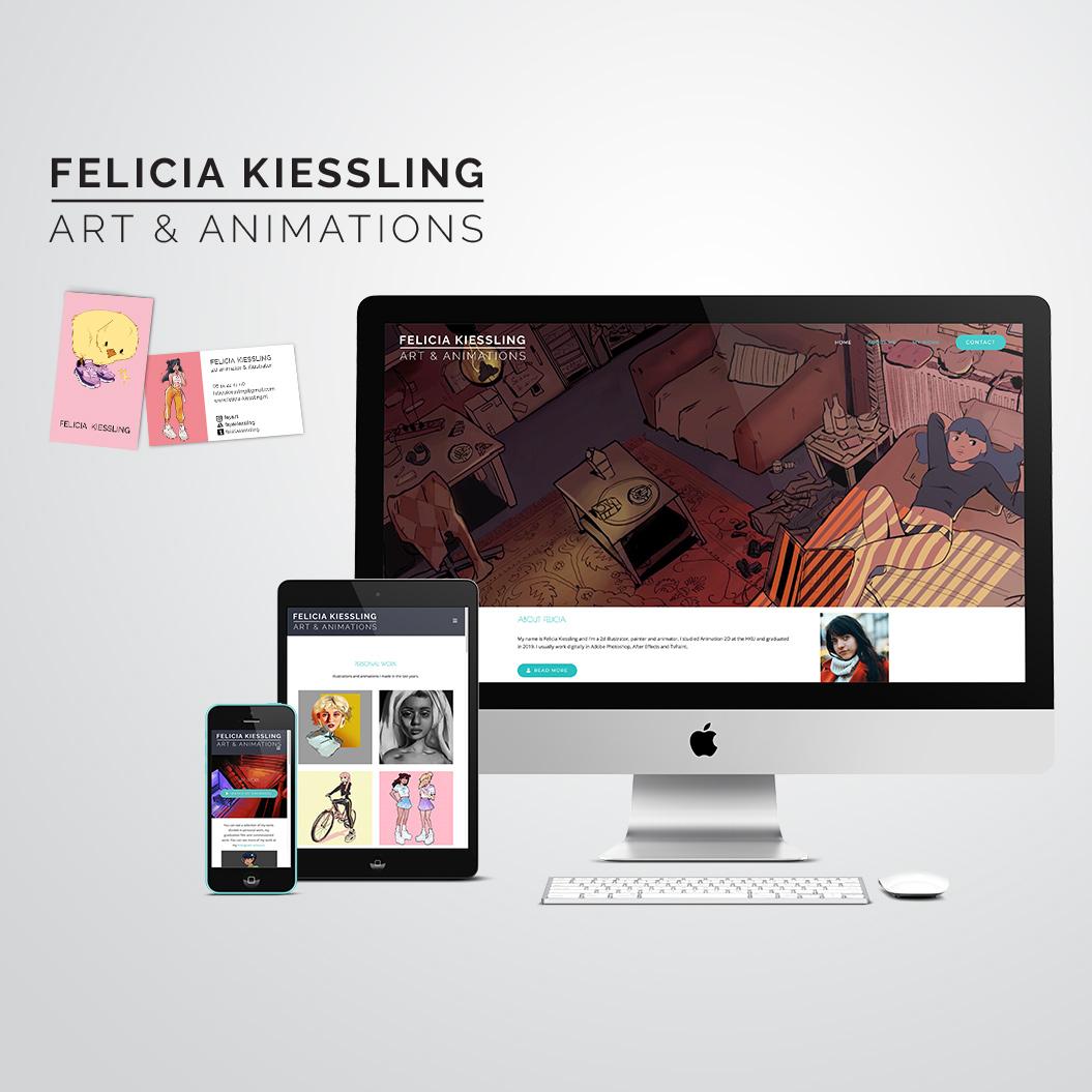 huisstijl gemaakt door Kat Design voor Felicia Kieslling
