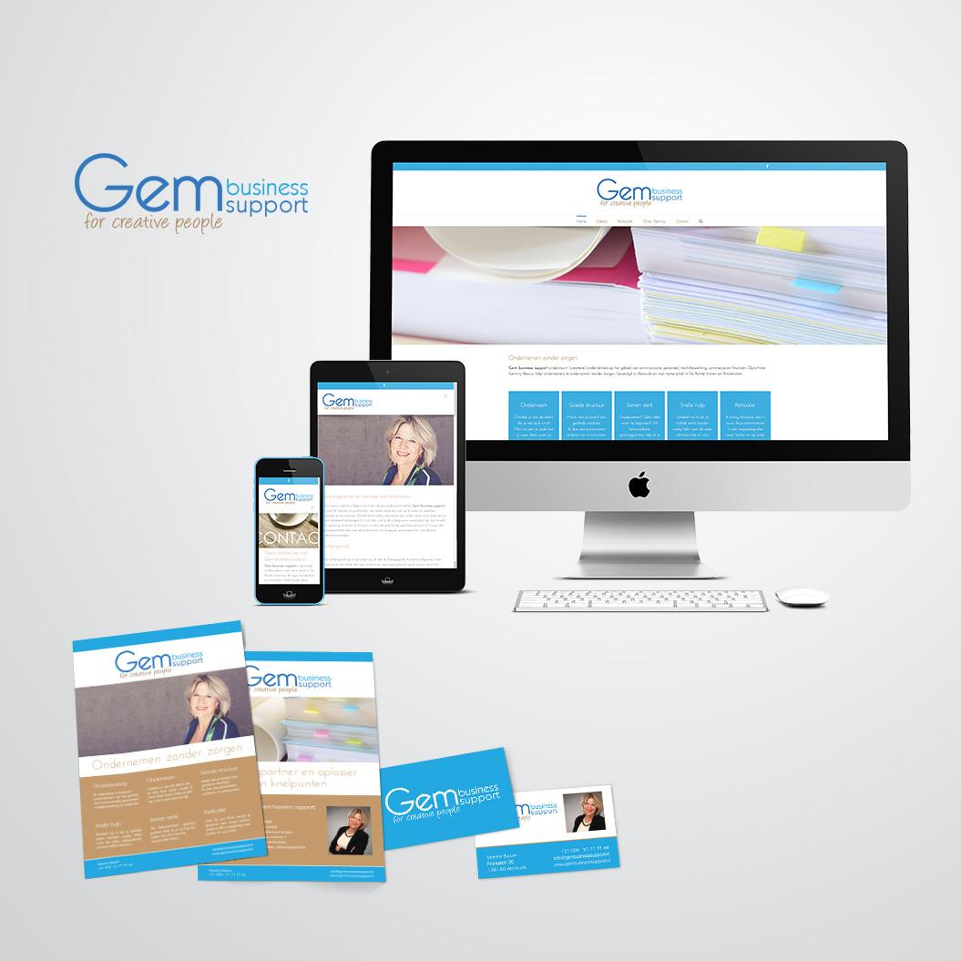 huisstijl gemaakt door Kat Design voor Gem business support