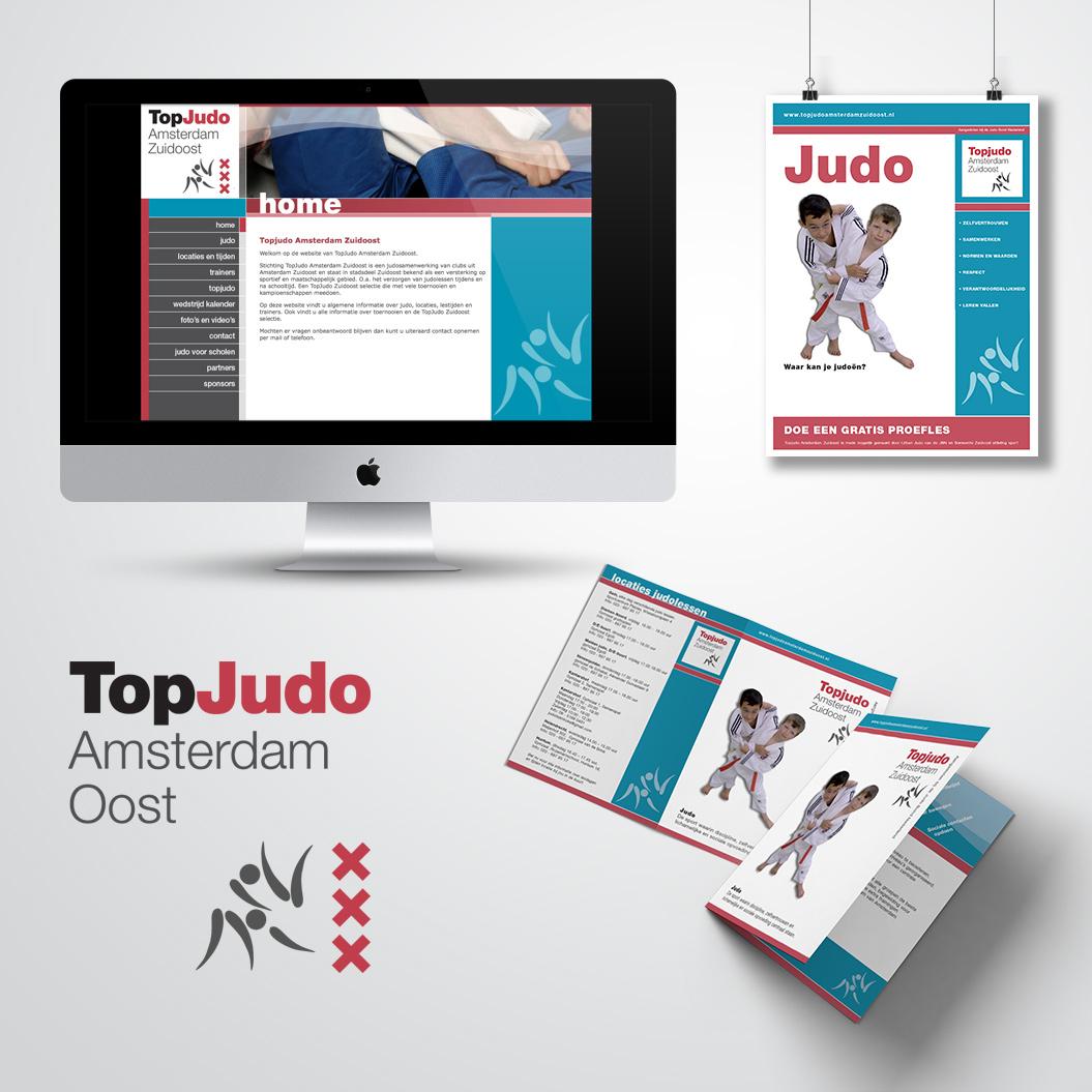 huisstijl gemaakt door Kat Design voor Topjudo