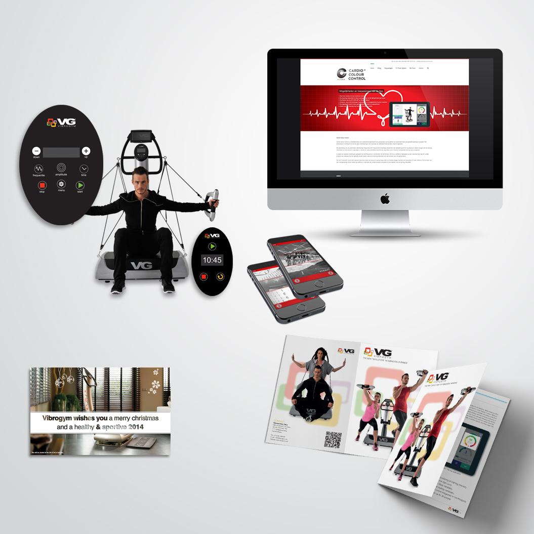 Marketingmateriaal gemaakt door Kat Design voor Vibrogym