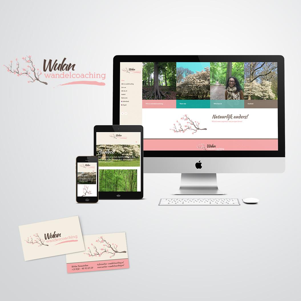 huisstijl gemaakt door Kat Design voor Wulan Wandelcoaching