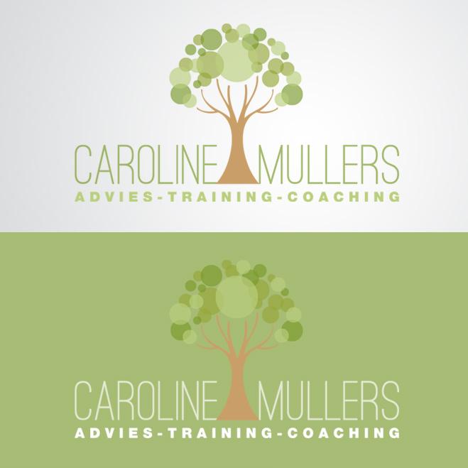 logo gemaakt door Kat Design voor Praktijk voor Caroline Mullers