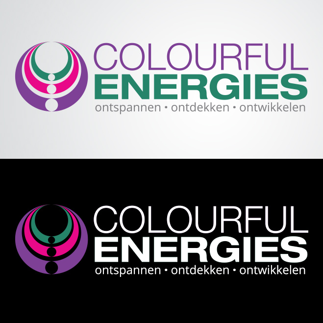 logo gemaakt door Kat Design voor Colourful Energies