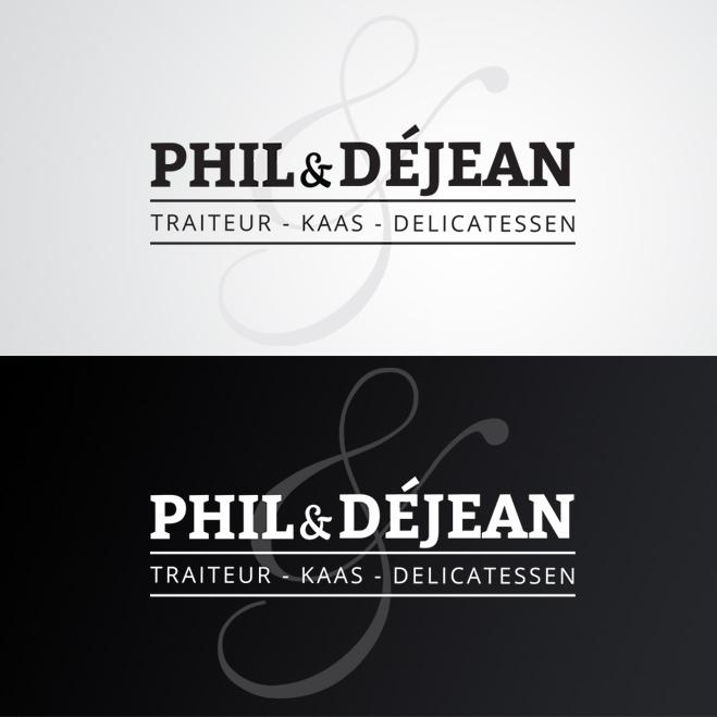 logo voor Phil & Déjean gemaakt door Kat Design