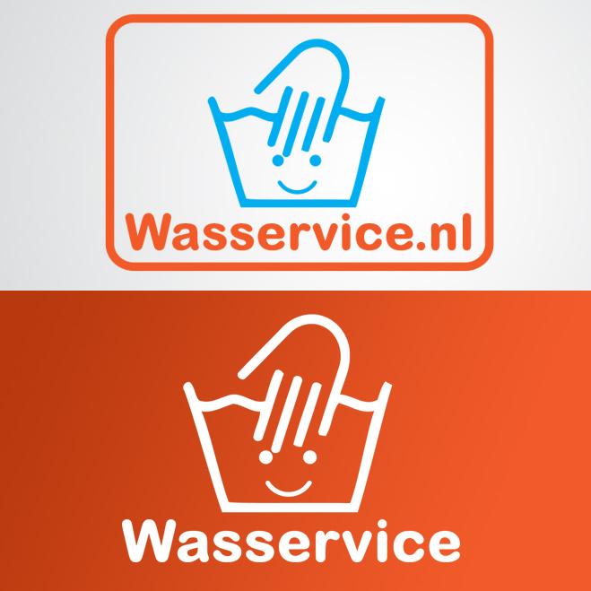 logo gemaakt voor Wasservice