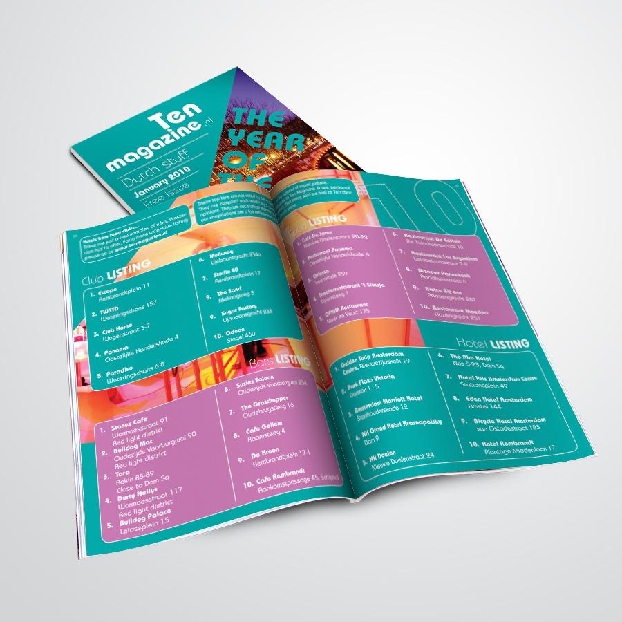 magazine gemaakt door Kat Design voor Ten Magazine