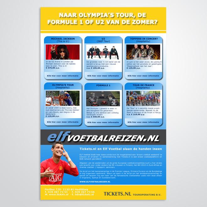 Mailing voor Tickets.nl