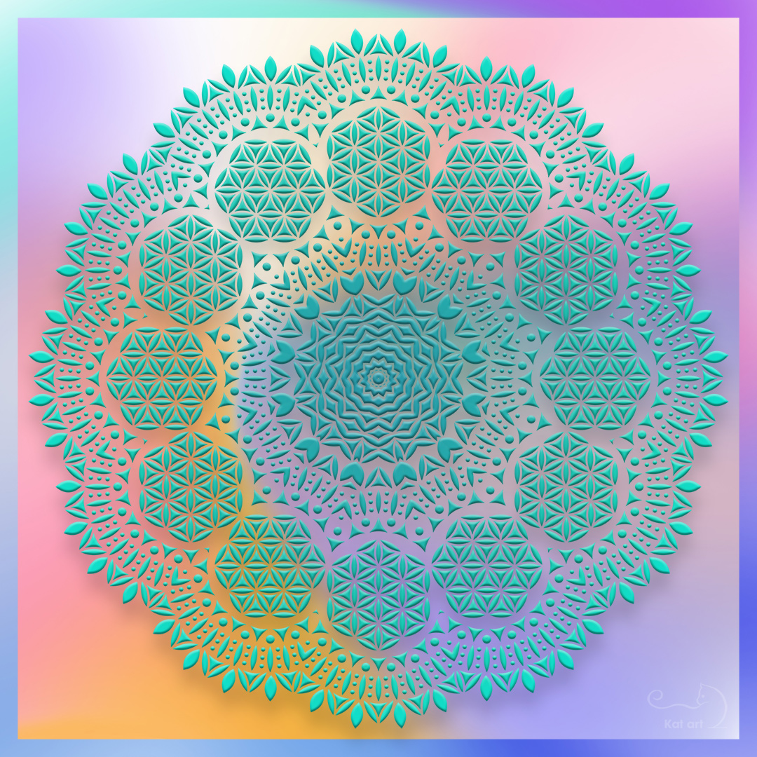 mandala-art gemaakt door Kat-Art