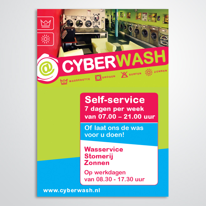 poster gemaakt door Kat Design voor Cyberwash