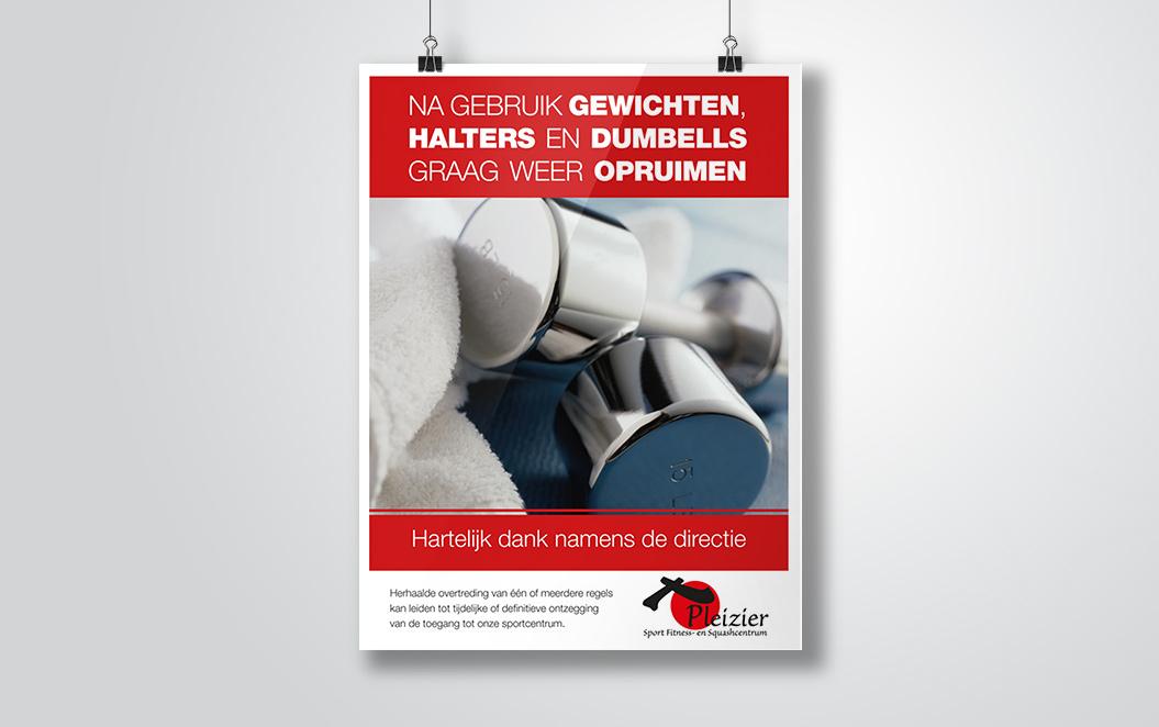 poster voor sportschool Pleizier