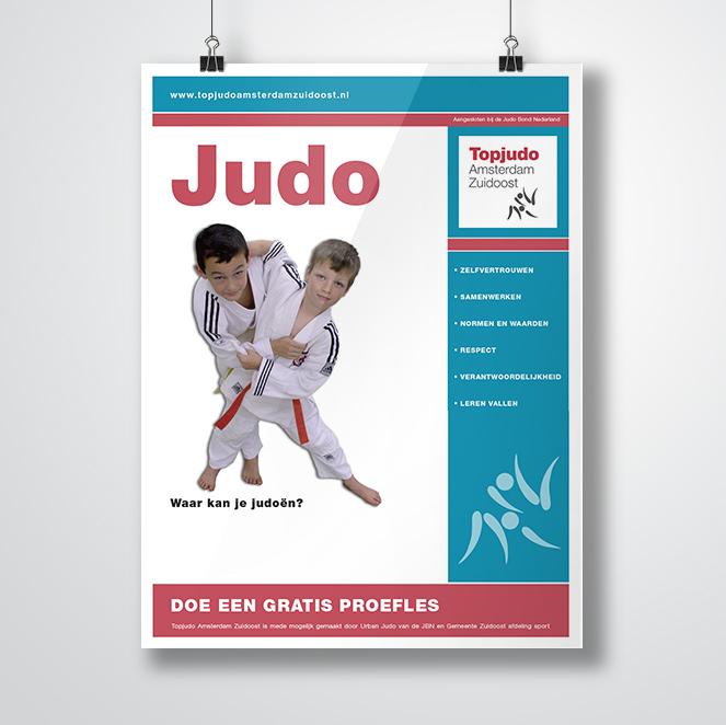 poster gemaakt door Kat Design voor Topjudo